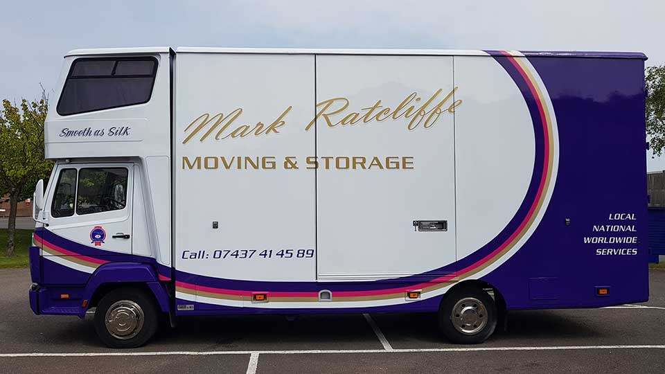 photo of Mark Ratcliffe sleeper moving van, Eastbourne